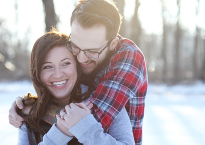 Snowy Engagement Photos – Alex + Elizabeth
