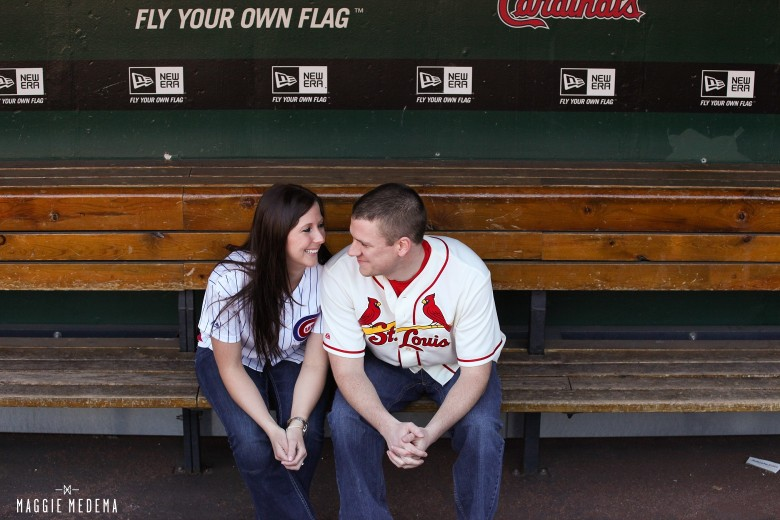 Busch Stadium Engagement Photos – Leni + Dan