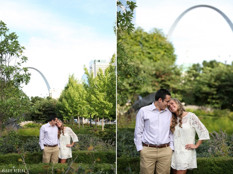 City Garden + Tower Grove Engagement Photos – Kaitlin & Charles