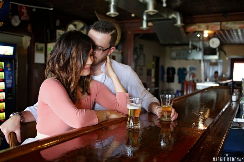 The Ones You Took At The Bar – Kate & Luke's Streator Engagement Session